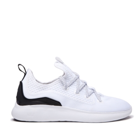 Supra Mens FACTOR White/Black/white Low Top Shoes | CA-81612